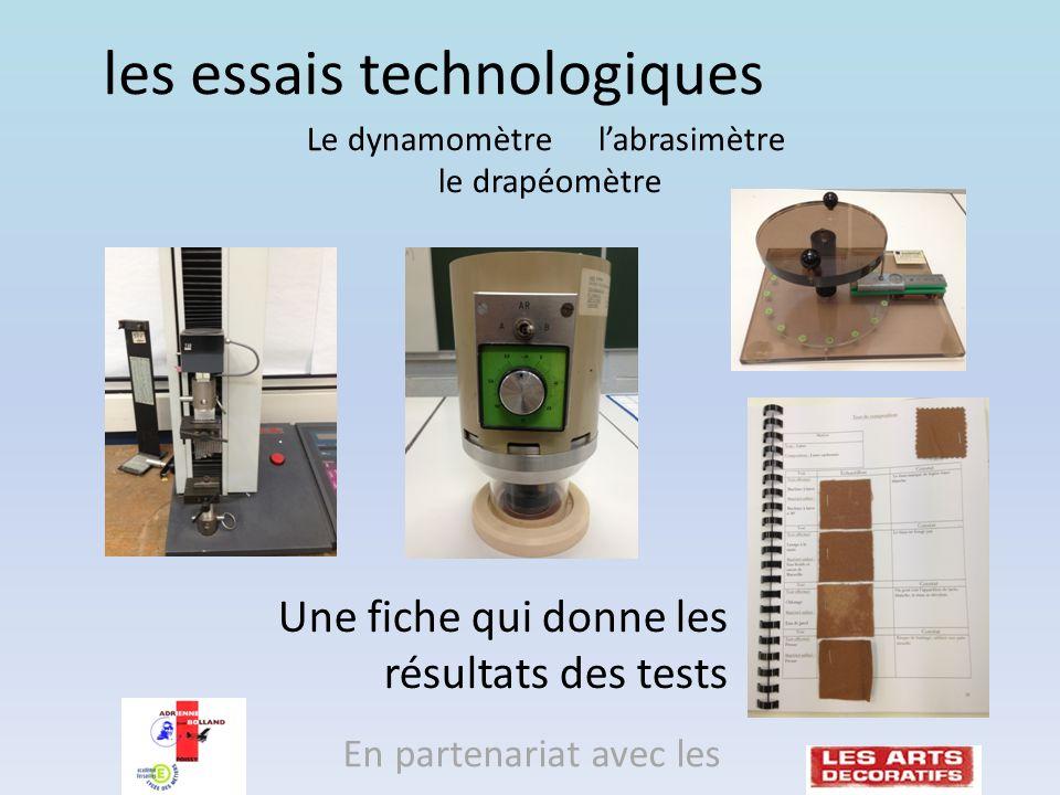 les essais technologiques