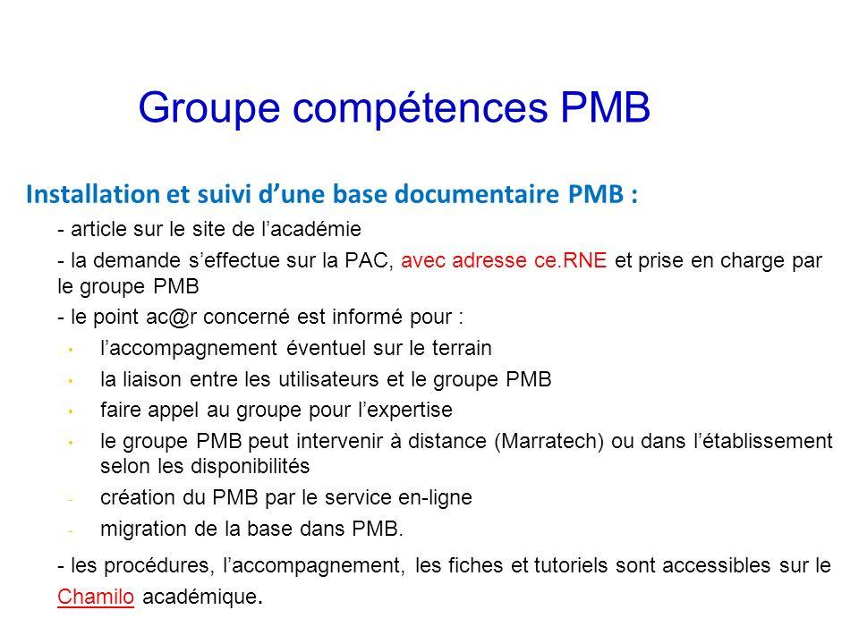 Groupe compétences PMB