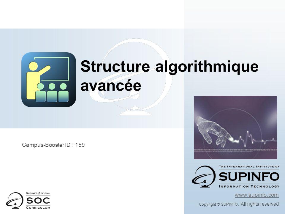 Structure algorithmique avancée