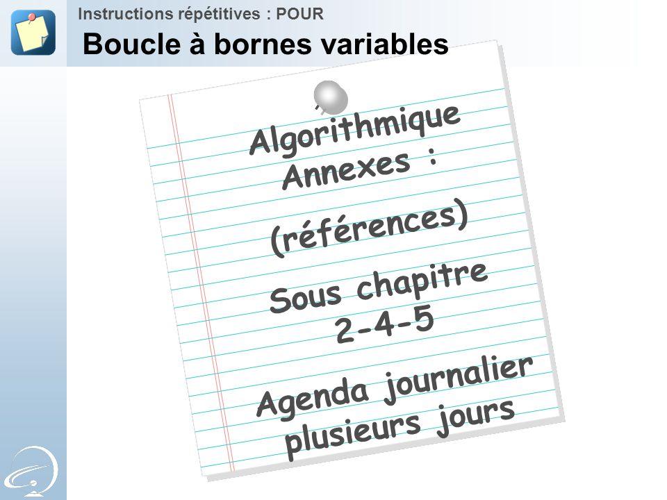 Boucle à bornes variables