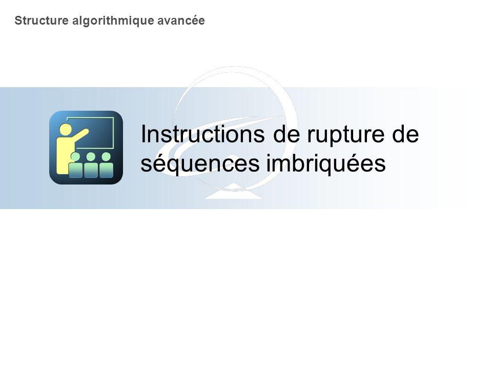 Instructions de rupture de séquences imbriquées