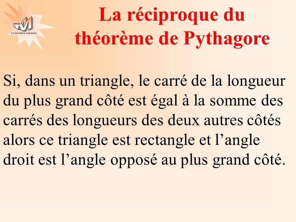 La réciproque du théorème de Pythagore