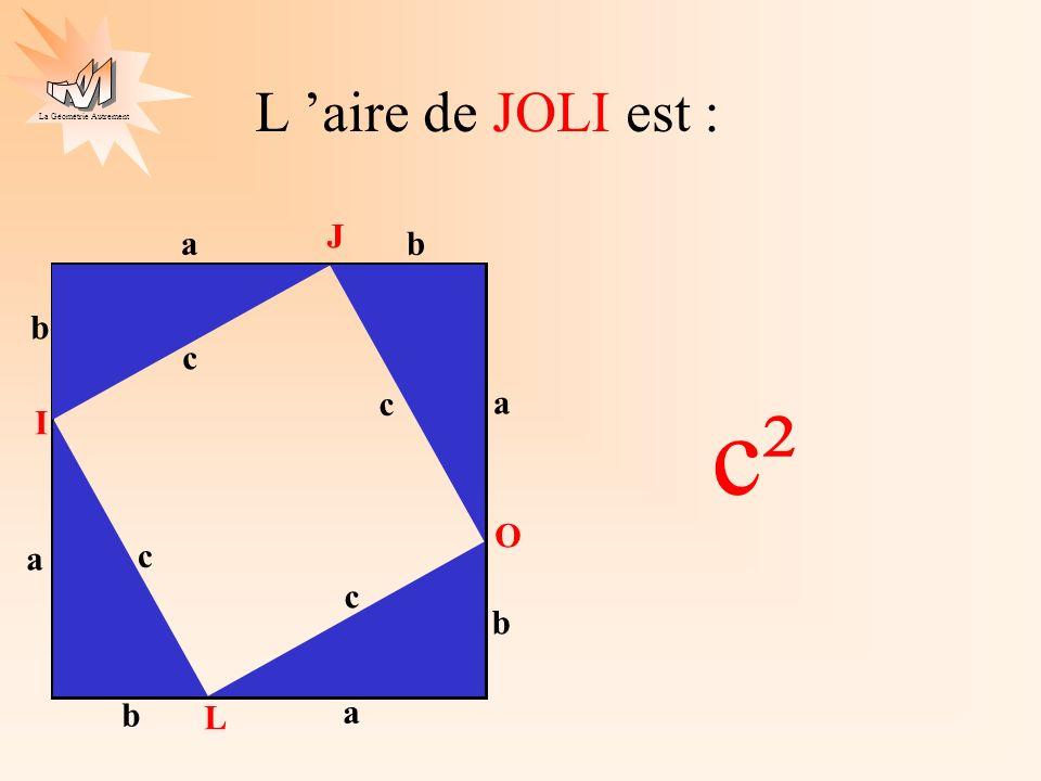 L 'aire de JOLI est : J a b c a b c c² I O a b c a b c L