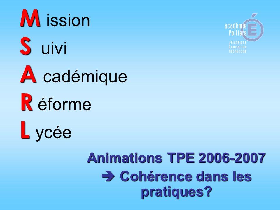 M ission S uivi A cadémique R éforme L ycée