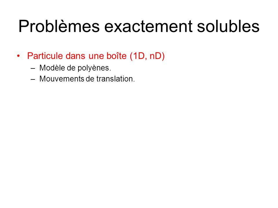 Problèmes exactement solubles