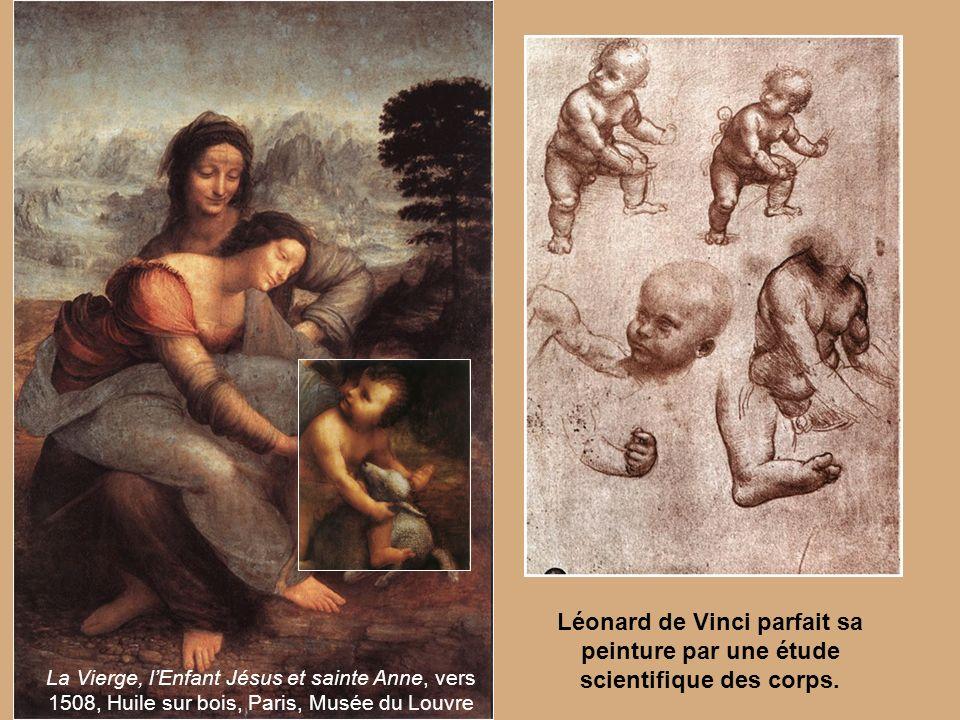 Léonard de Vinci parfait sa peinture par une étude scientifique des corps.