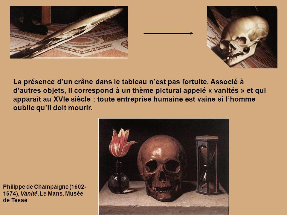 La présence d'un crâne dans le tableau n'est pas fortuite