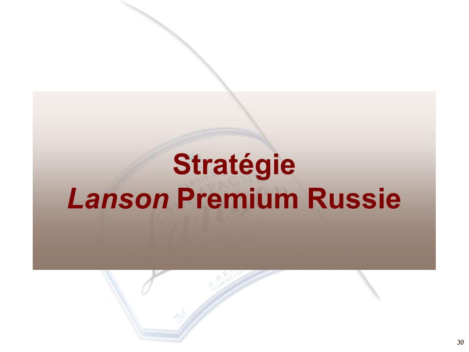 Stratégie Lanson Premium Russie