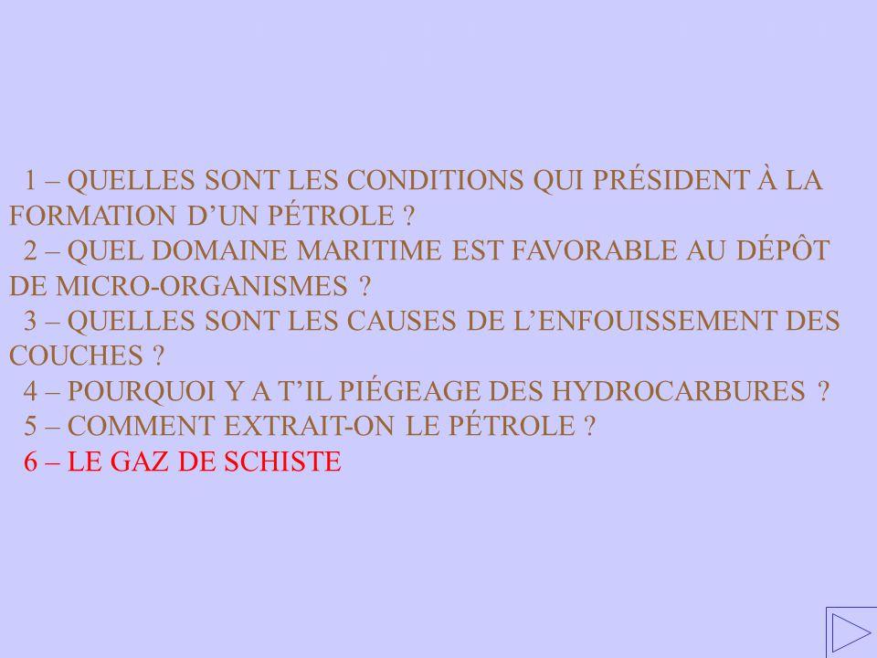 5 – Répartition des gisements de pétrole dans le monde.