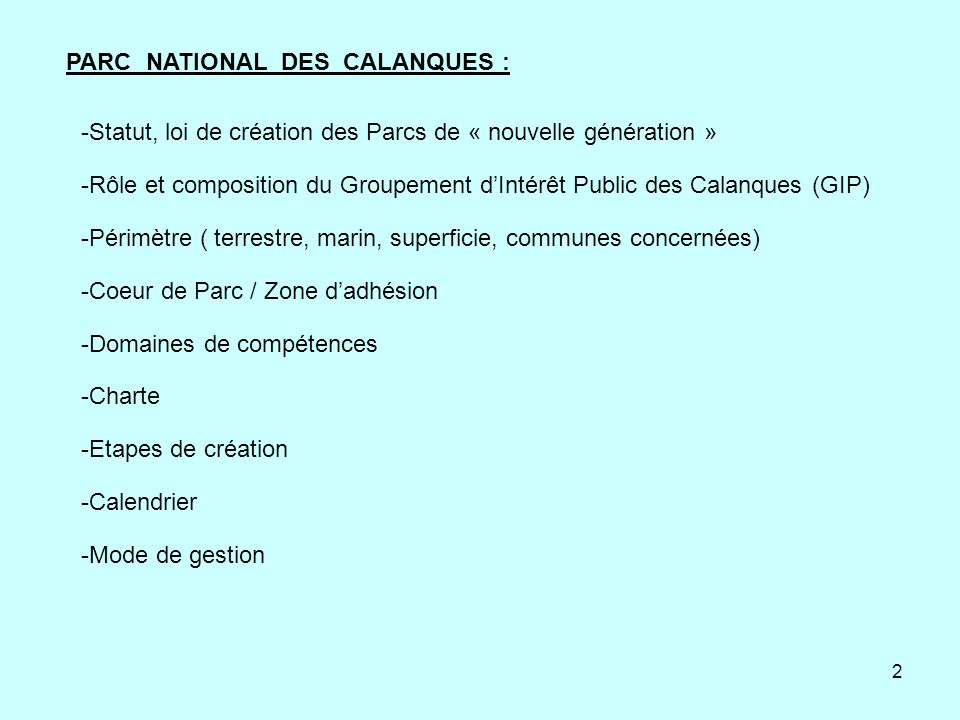 PARC NATIONAL DES CALANQUES :