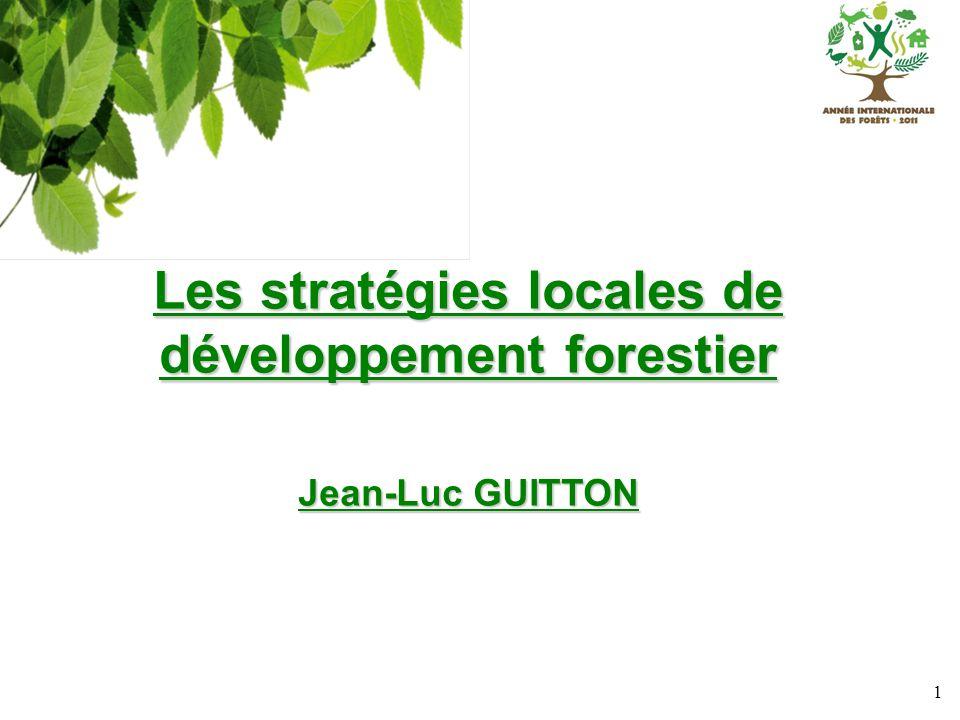 Les stratégies locales de développement forestier