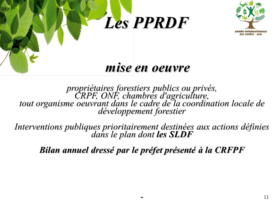 Bilan annuel dressé par le préfet présenté à la CRFPF