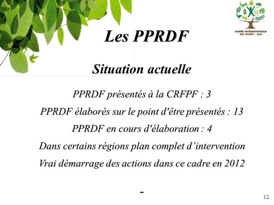 Les PPRDF PPRDF présentés à la CRFPF : 3