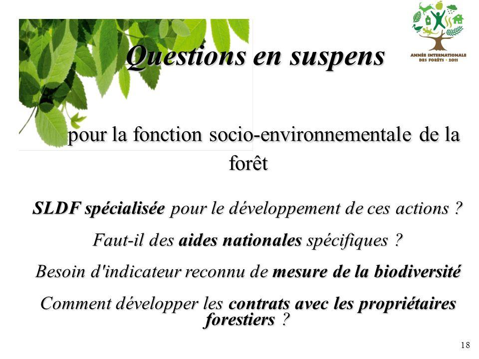 pour la fonction socio-environnementale de la forêt