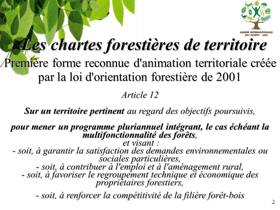 Les chartes forestières de territoire