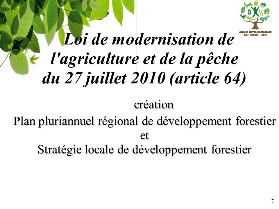 Loi de modernisation de l agriculture et de la pêche