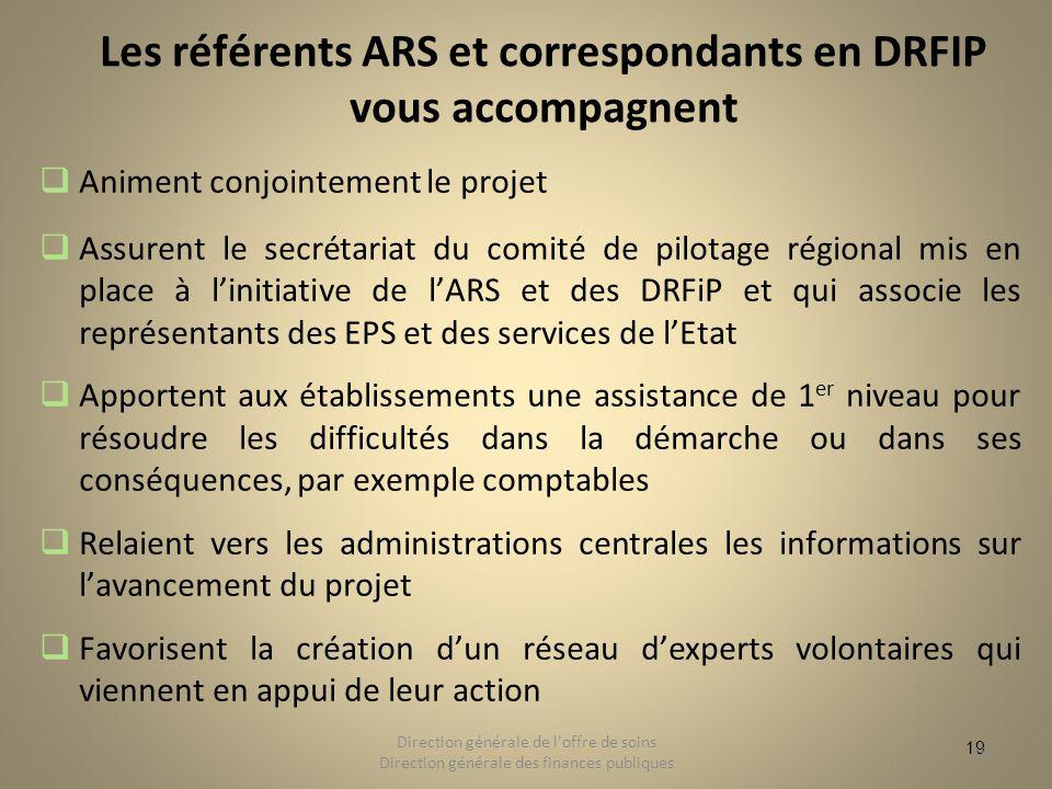 Les référents ARS et correspondants en DRFIP vous accompagnent