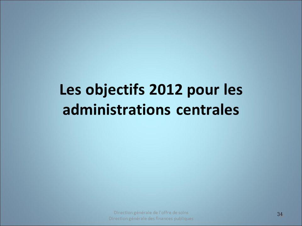 Les objectifs 2012 pour les administrations centrales