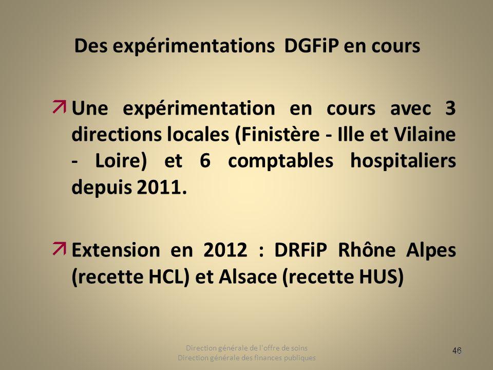 Des expérimentations DGFiP en cours