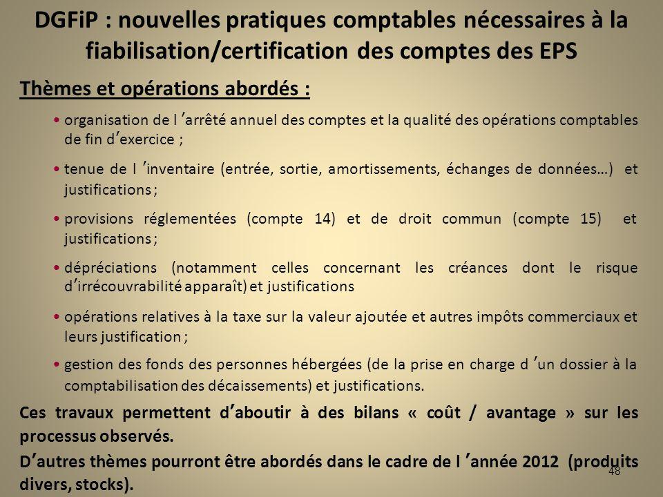 DGFiP : nouvelles pratiques comptables nécessaires à la fiabilisation/certification des comptes des EPS