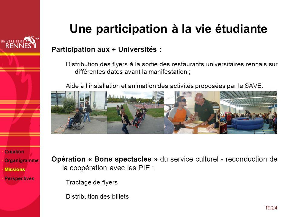 Une participation à la vie étudiante
