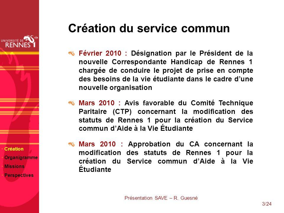 Présentation SAVE – R. Guesné