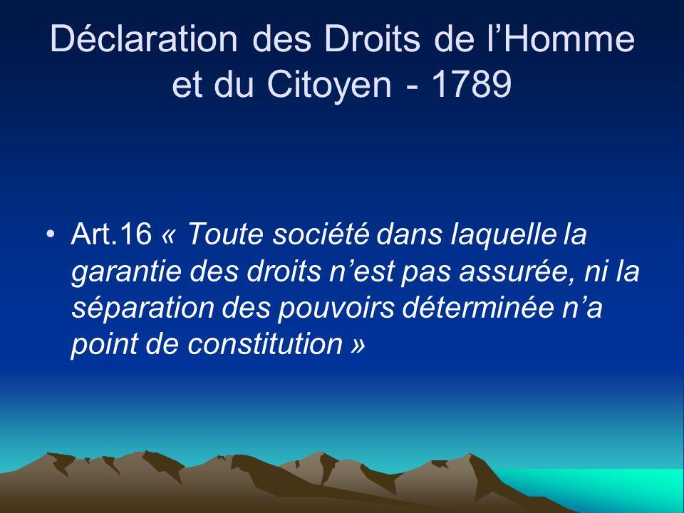 Déclaration des Droits de l'Homme et du Citoyen - 1789