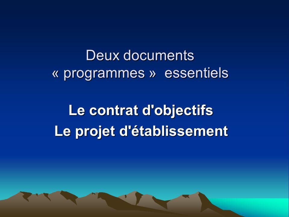 Deux documents « programmes » essentiels