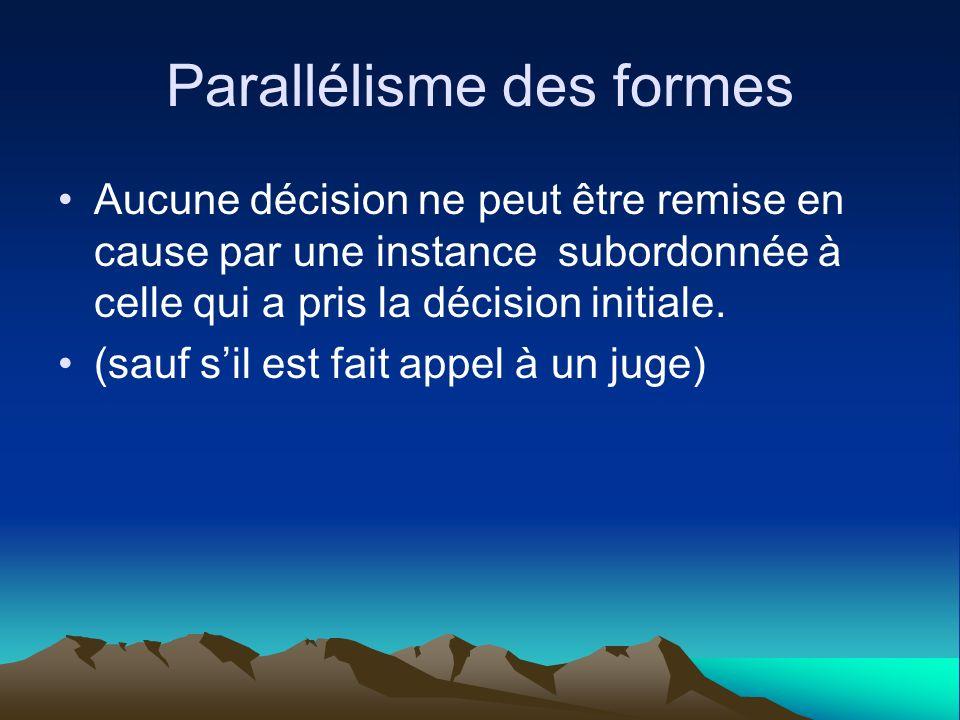 Parallélisme des formes