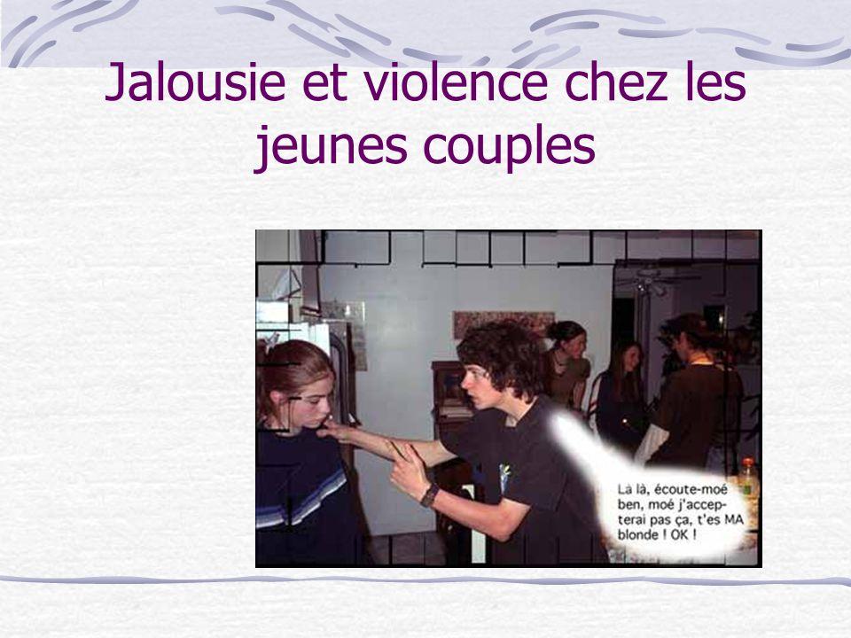 Jalousie et violence chez les jeunes couples