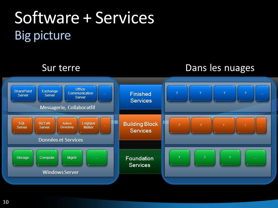 Software + Services Big picture