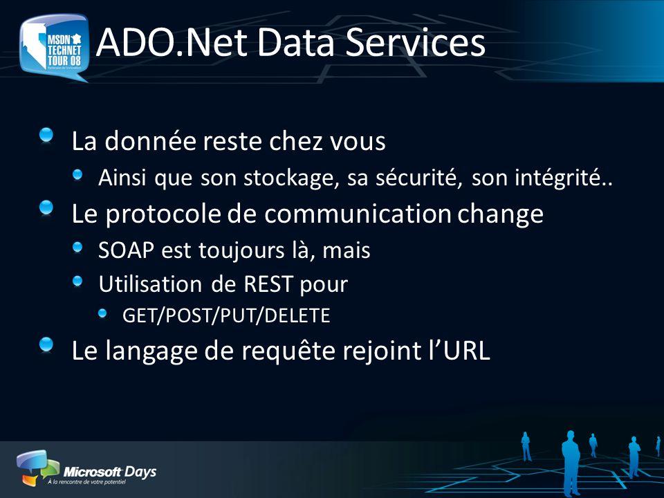 ADO.Net Data Services La donnée reste chez vous