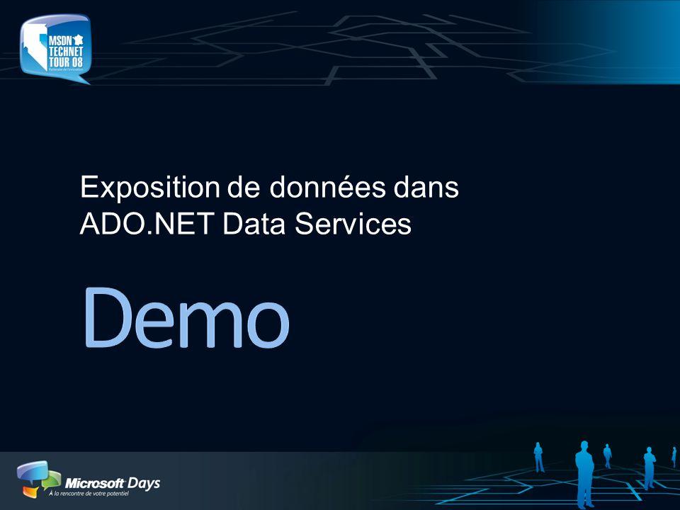 Exposition de données dans ADO.NET Data Services