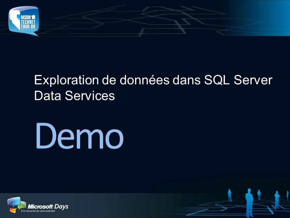 Exploration de données dans SQL Server Data Services