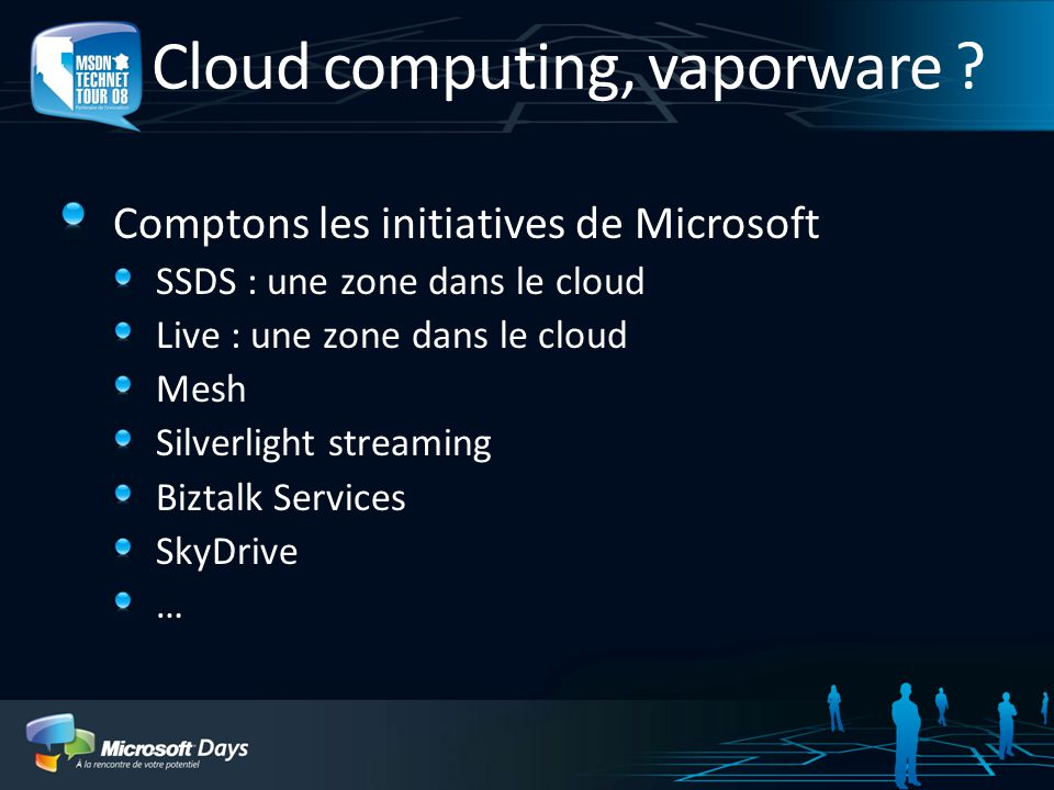 Cloud computing, vaporware