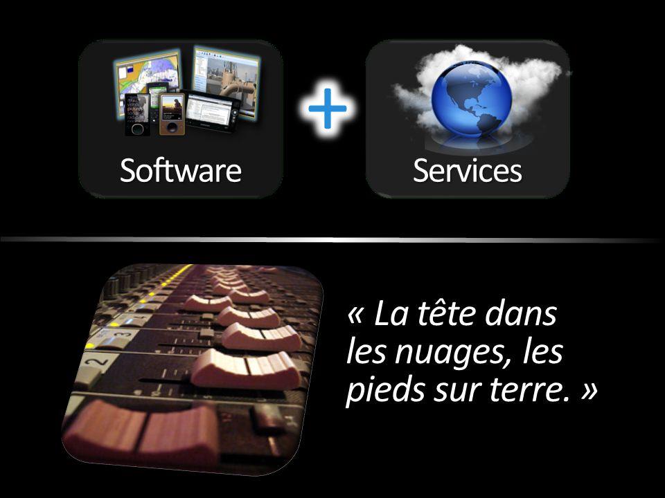 Software Services + « La tête dans les nuages, les pieds sur terre. »