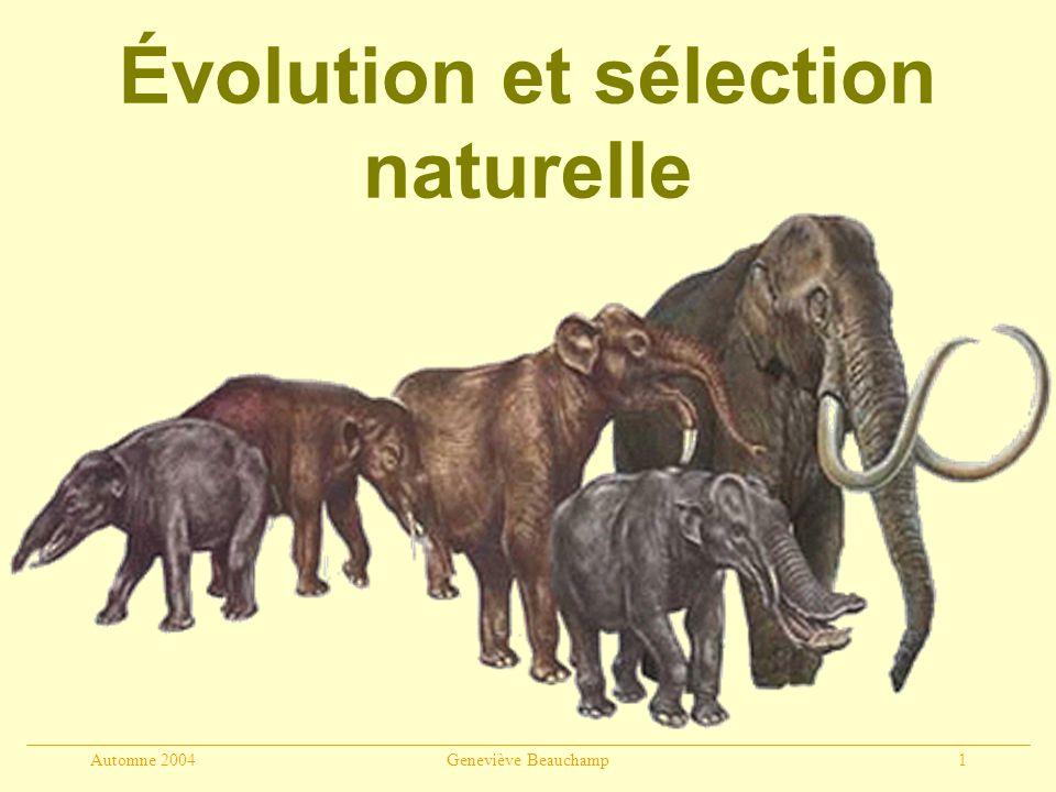 Évolution et sélection naturelle