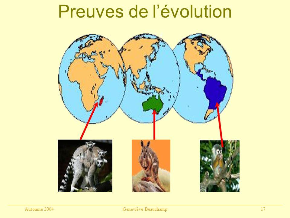 Preuves de l'évolution