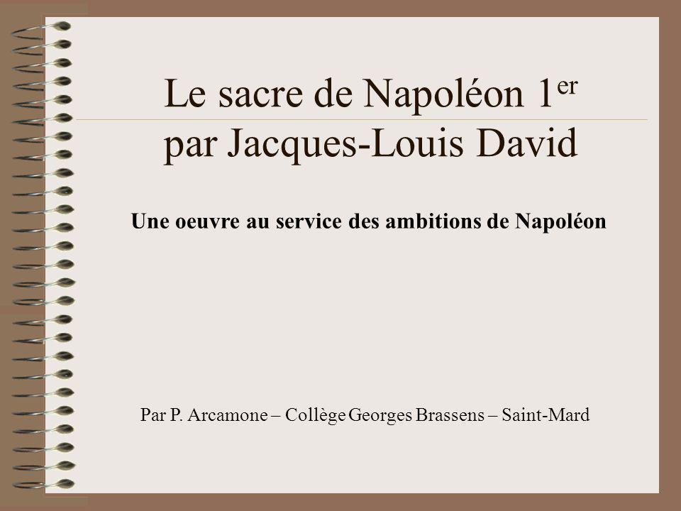 Le sacre de Napoléon 1er par Jacques-Louis David
