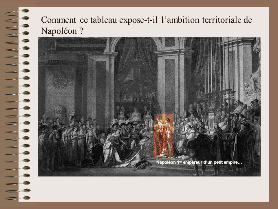 Comment ce tableau expose-t-il l'ambition territoriale de Napoléon