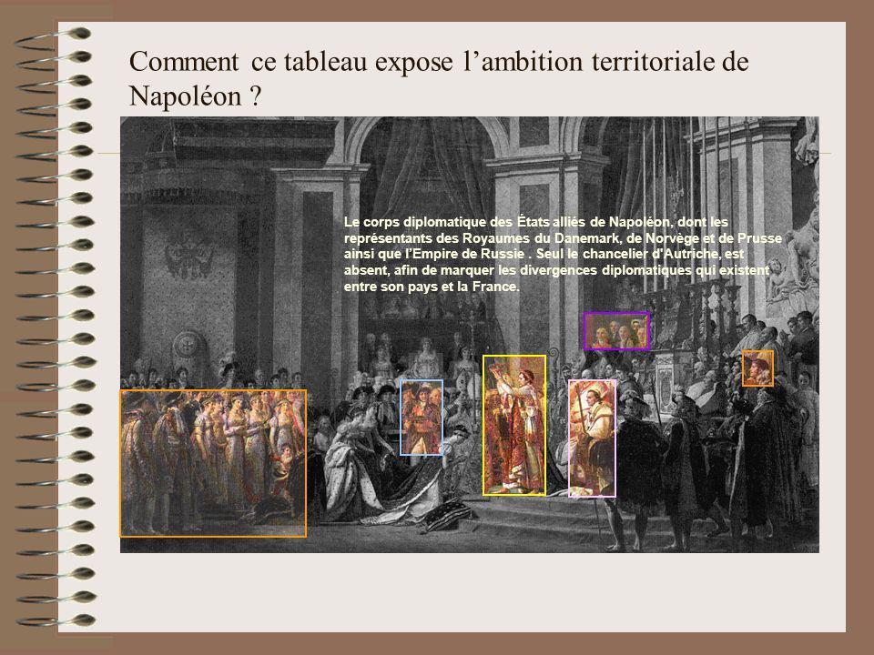 Comment ce tableau expose l'ambition territoriale de Napoléon