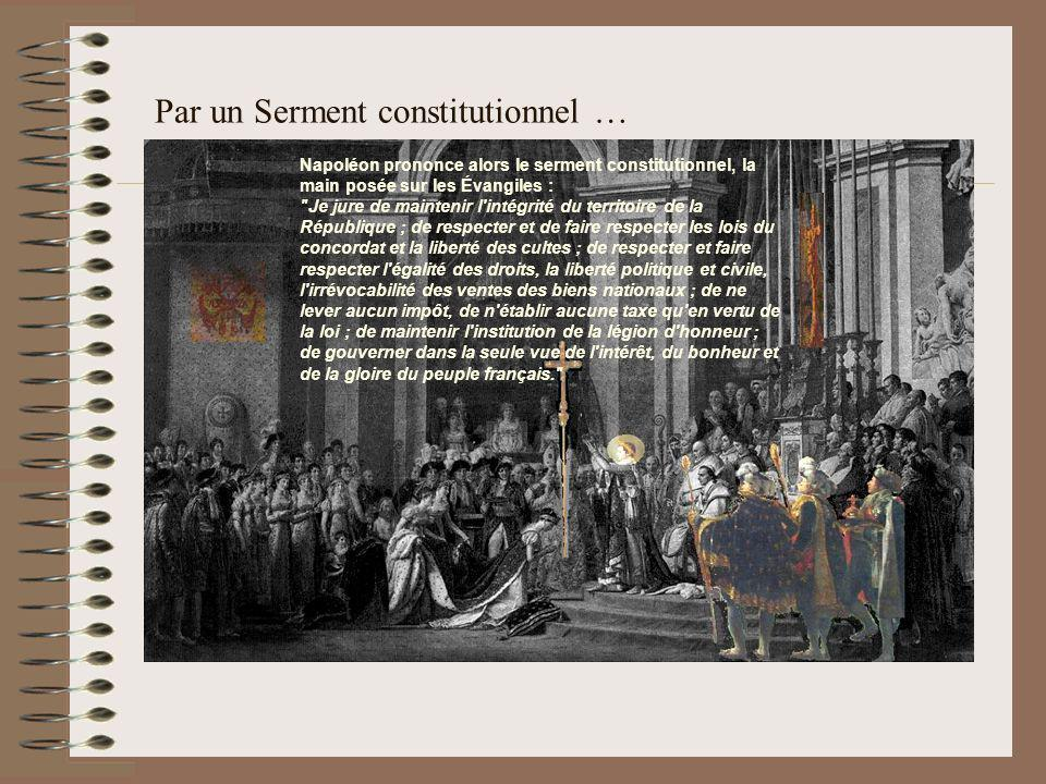 Par un Serment constitutionnel …