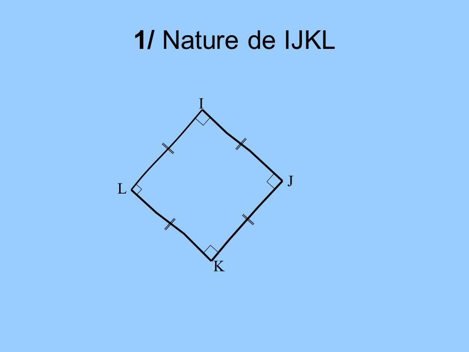 1/ Nature de IJKL I J L K