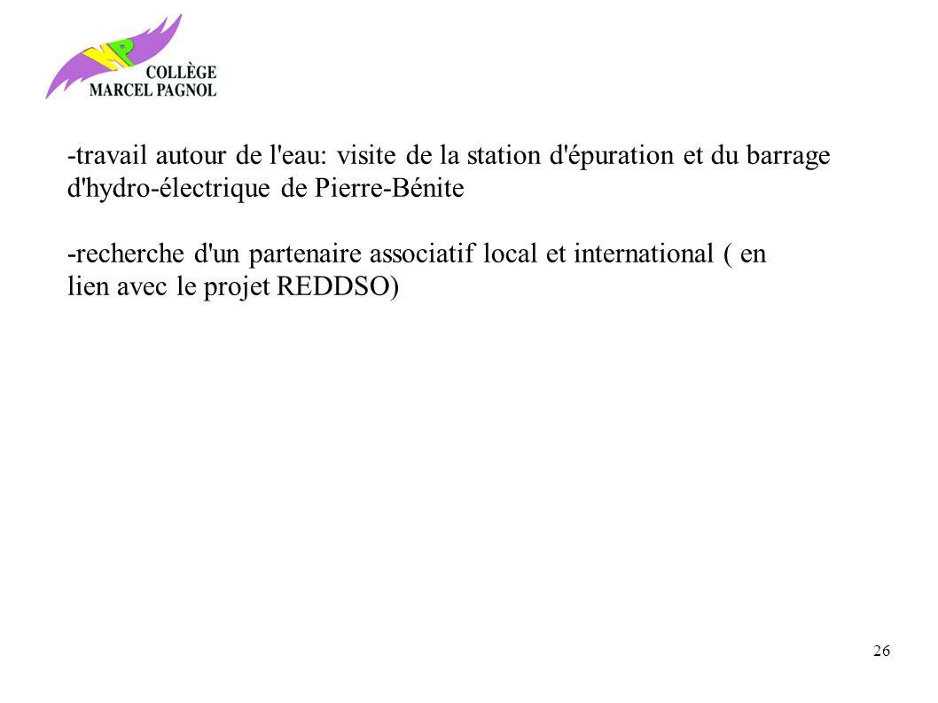 -travail autour de l eau: visite de la station d épuration et du barrage d hydro-électrique de Pierre-Bénite