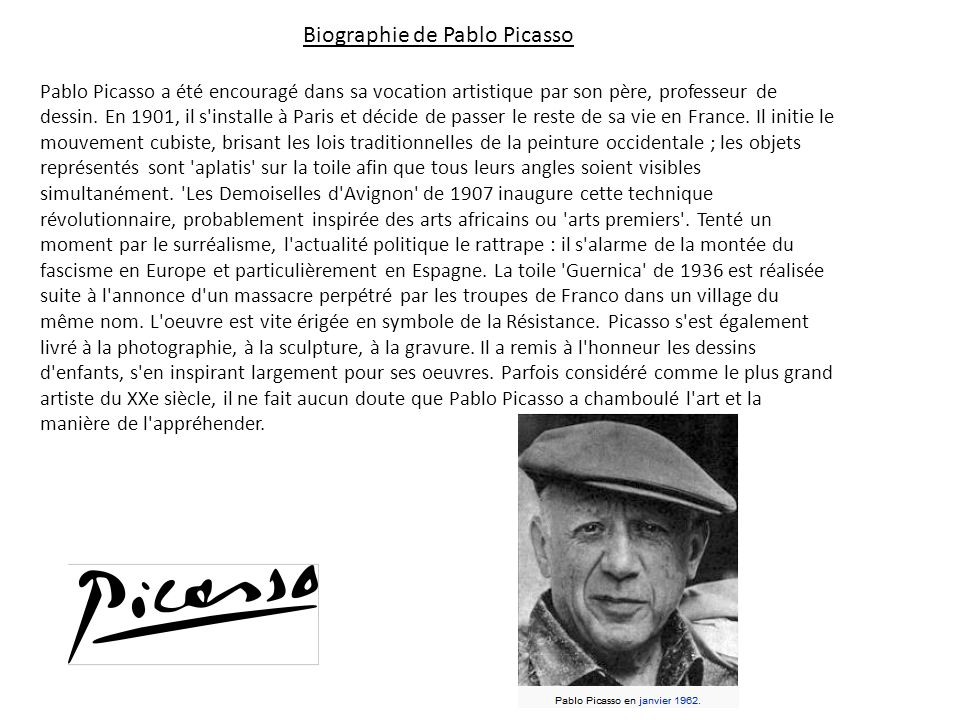Biographie de Pablo Picasso