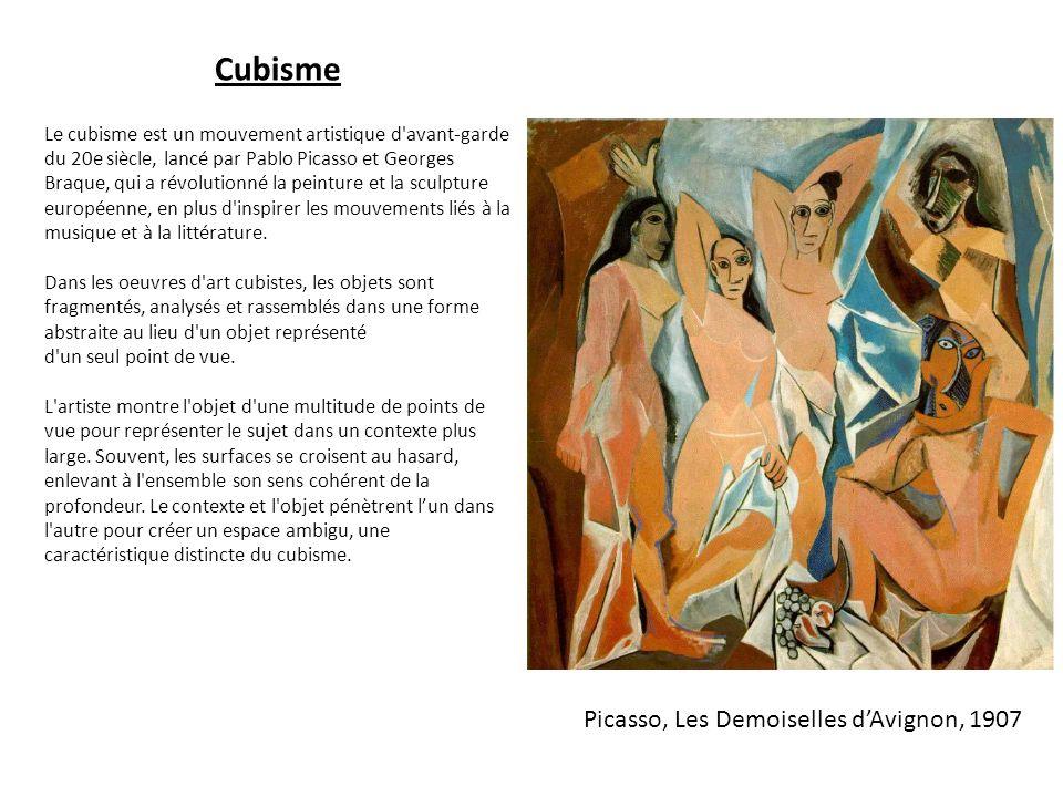 Cubisme Picasso, Les Demoiselles d'Avignon, 1907