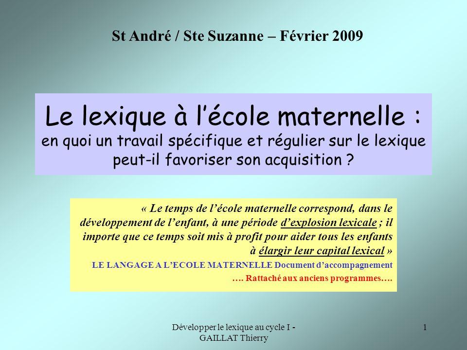 St André / Ste Suzanne – Février 2009