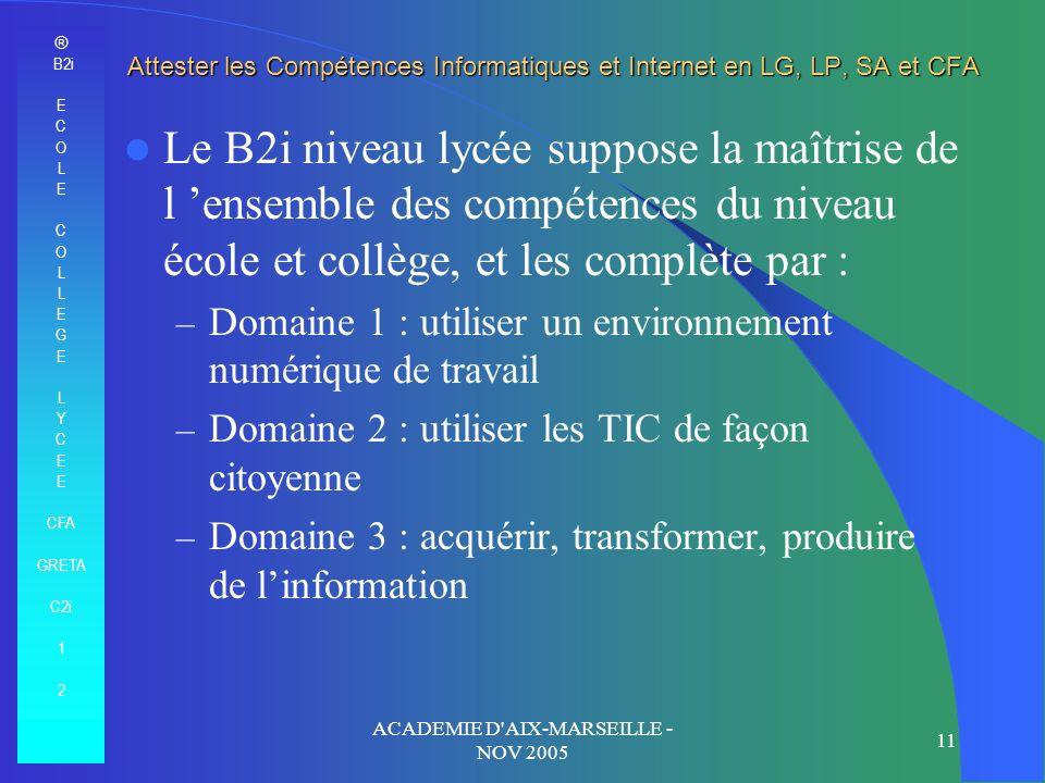 ACADEMIE D AIX-MARSEILLE - NOV 2005