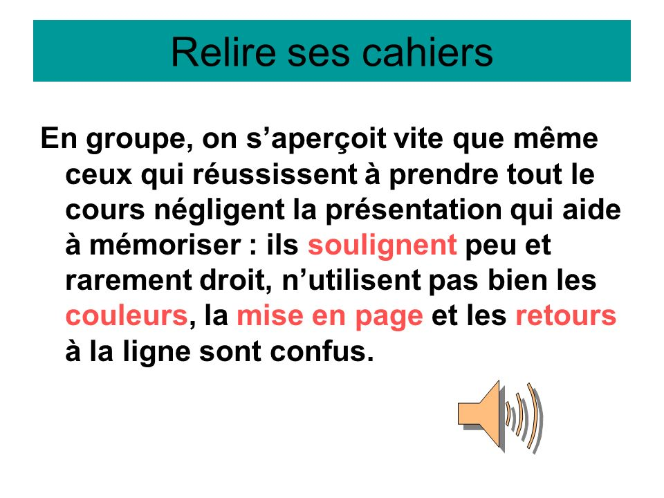 Relire ses cahiers