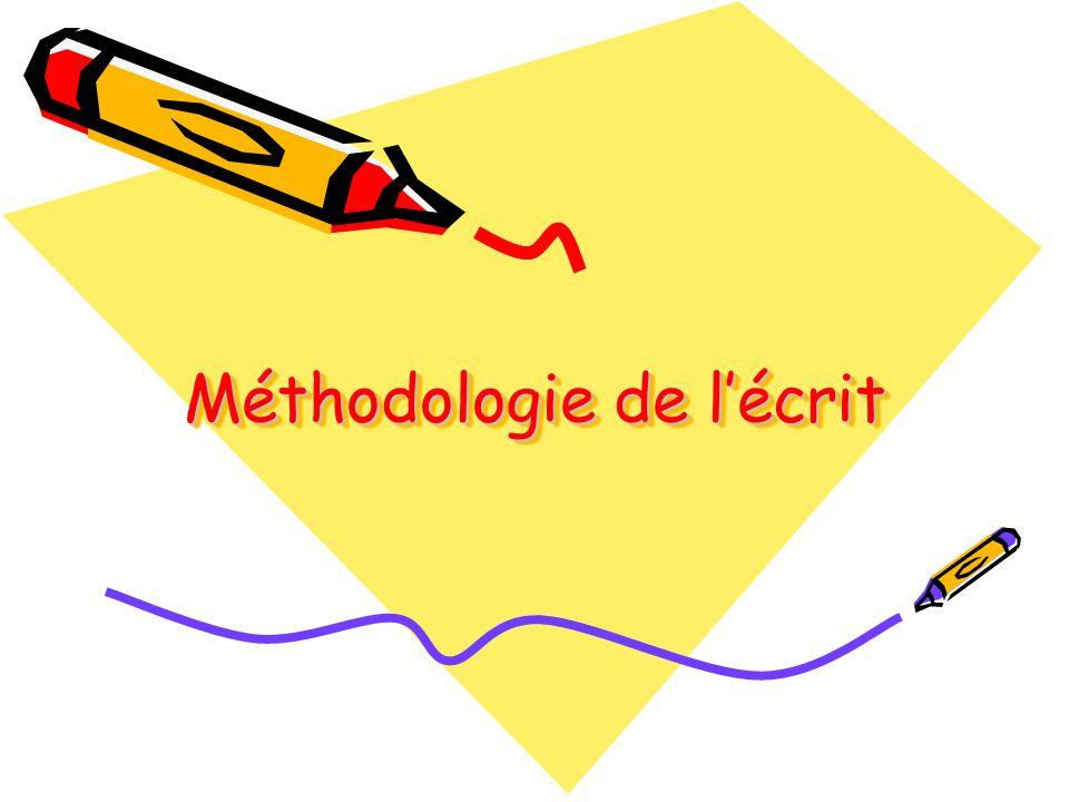 Méthodologie de l'écrit